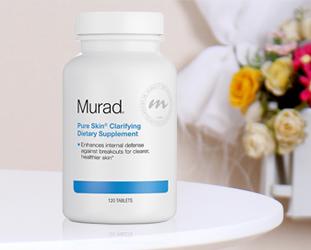 Review viên uống giảm mụn Murad Pure Skin Clarifying Dietary Supplement